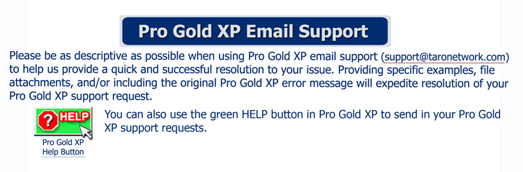 Pro Gold XP Email Support