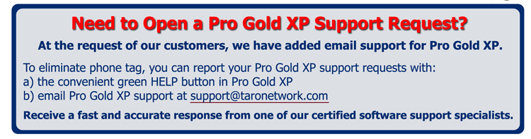 Need to Open a Pro Gold XP Support Request?