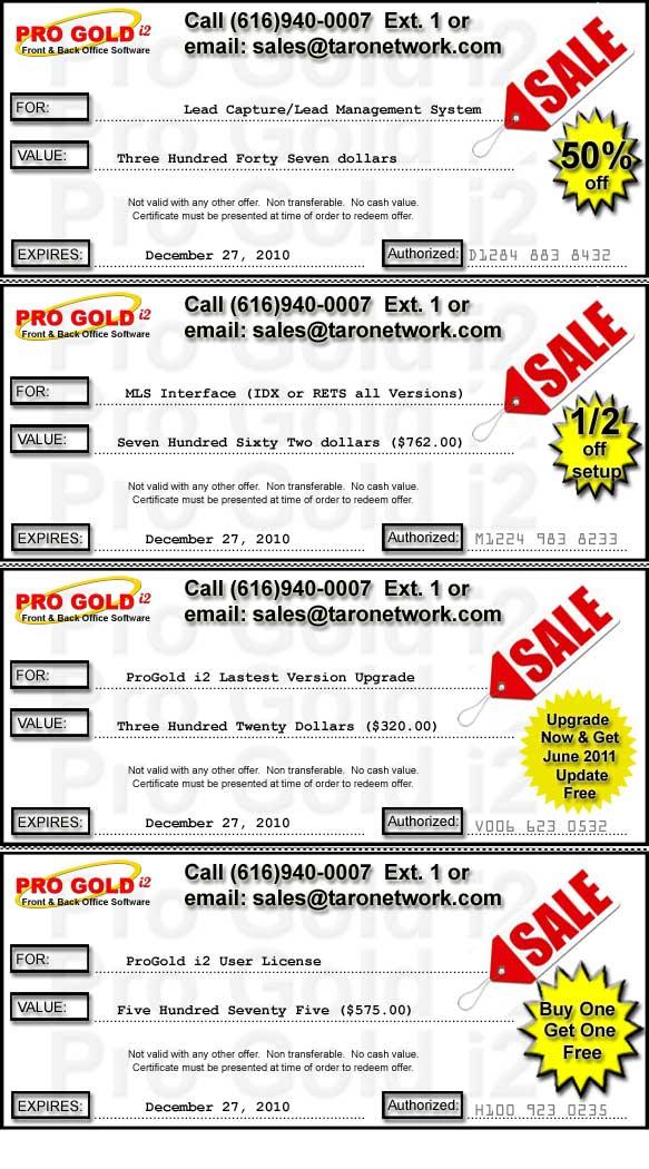 December ProGold i2 Cyber Sales